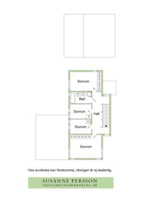 Nyrenoverat 2-planshus i Skarpäng