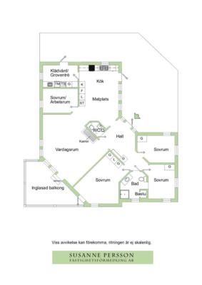 Enplans villa på lugn återvändsgata.